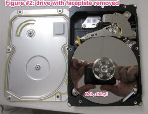 Hard Drive with Faceplate Removed