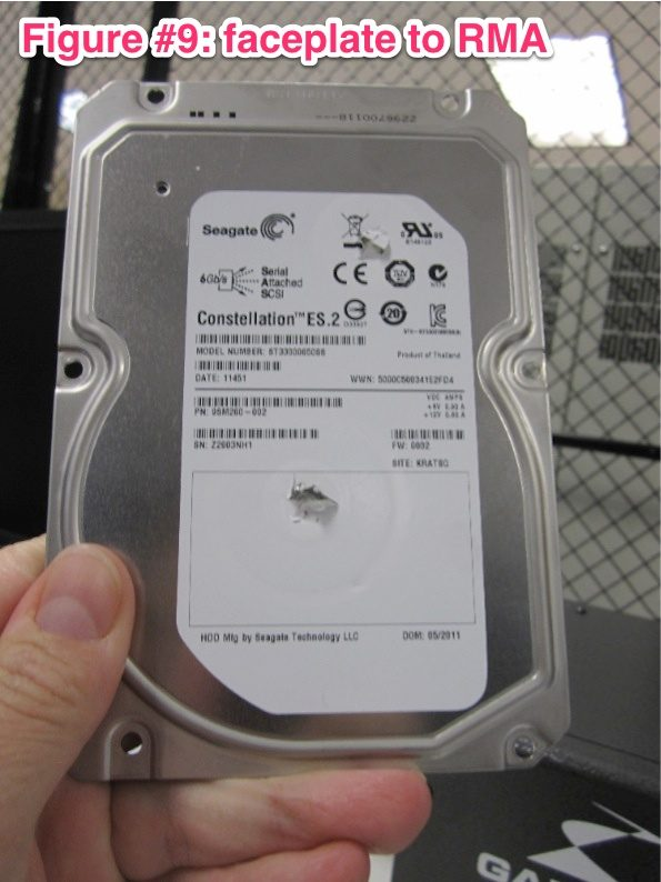 Faceplate of Hard Drive