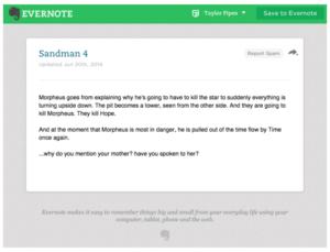 Sandman Note