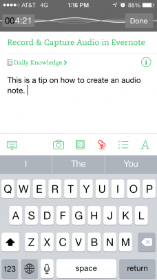 Audio Recording Note on Android