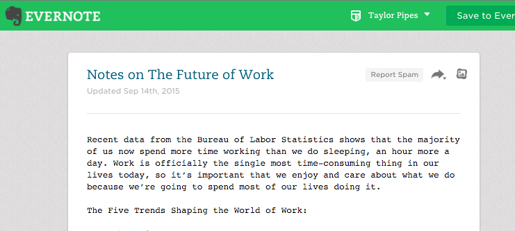 Notes on the Future of Work: More Work than Sleep