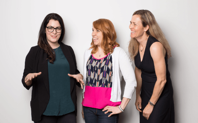 Evernote empleadas Chantel, Kara and Kathryn