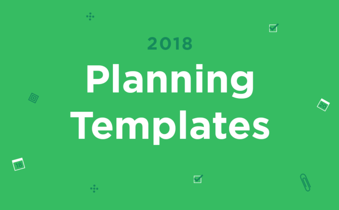 Words planning templates on a green background