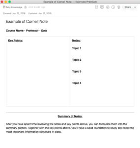 Cornell Note