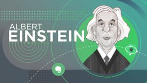 Ilustração de Albert Einstein