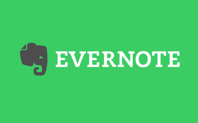 Evernote Logo with Writing and Elephant