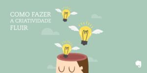 Ilustração de lampadas saindo da cabeça de uma pessoa e lettering