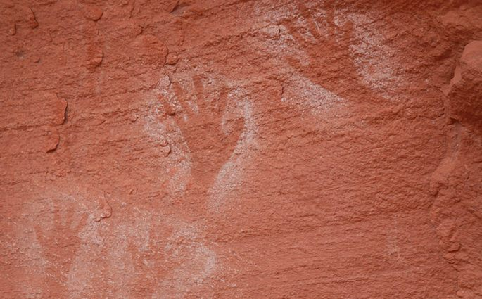 Handprints on Cave Wall