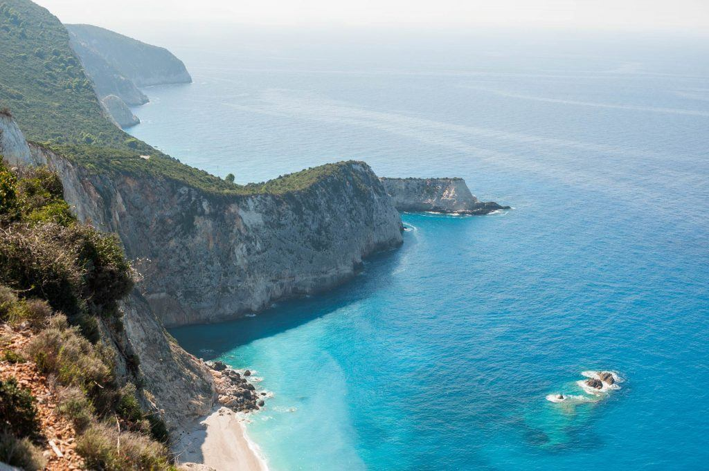 Aerial shot of Lefkada Greece