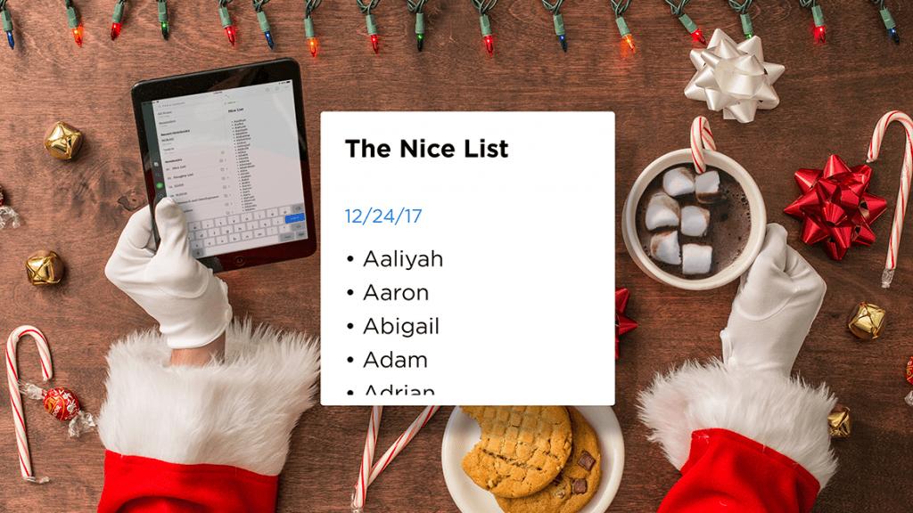 Santa's Nice List with Names
