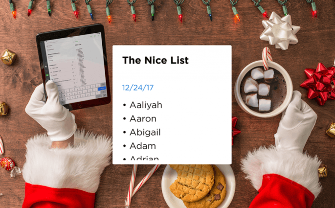 Santa's Nice List with Names