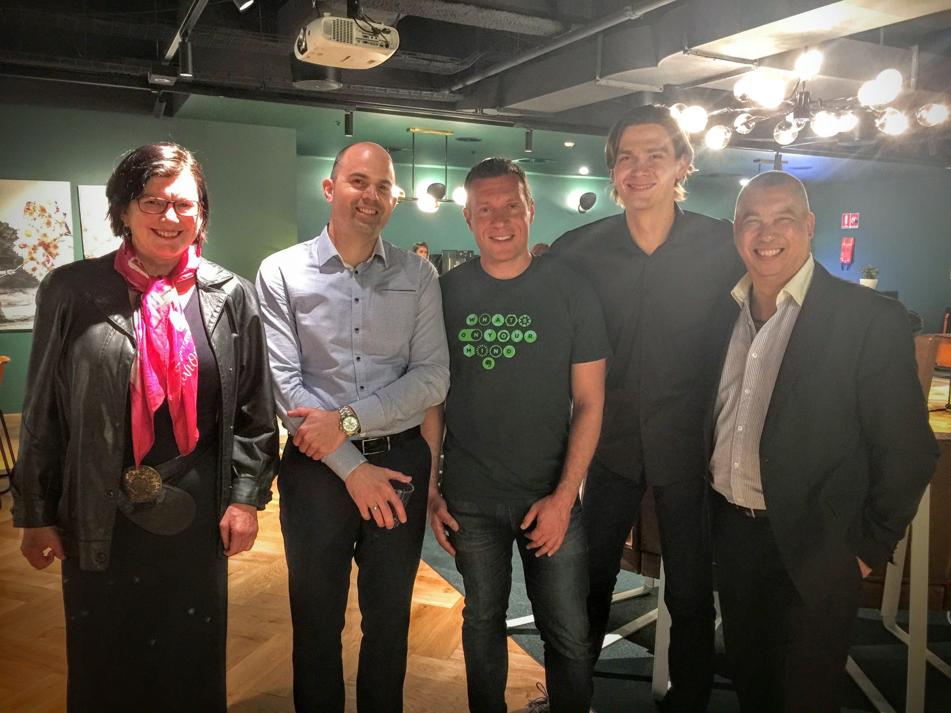 Speakers Helen Crozier, Maxime Groenewoud, Josh Zerkel, Stas Svamin, and Ivor Lok in Sydney