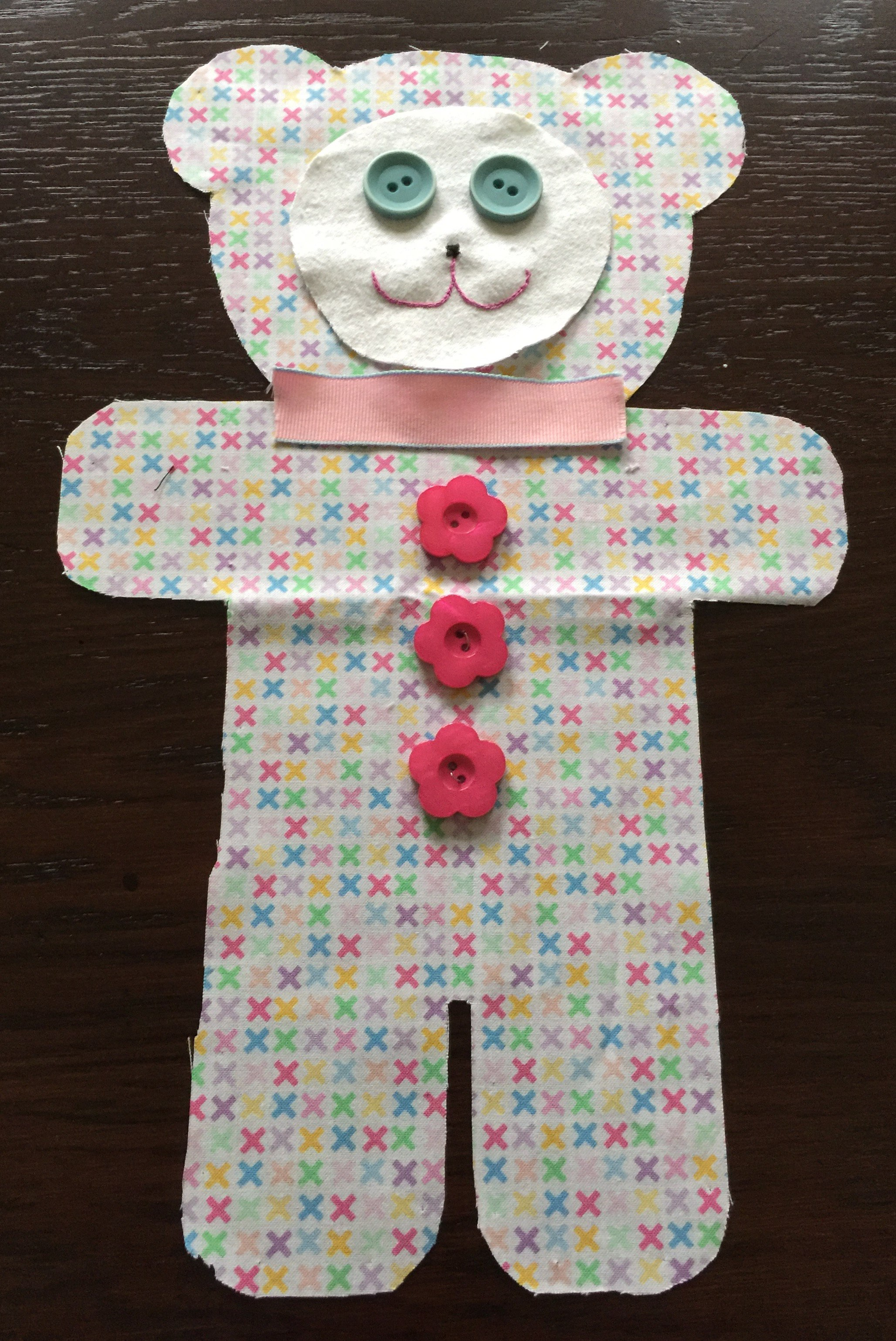 Teddy Bear with Pink Bow Tie