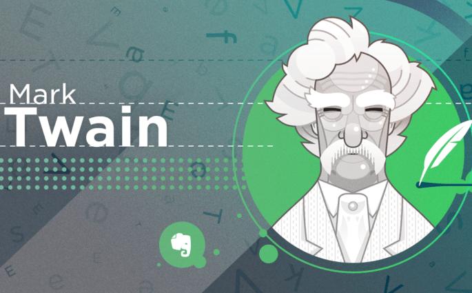 Mark Twain Illustration