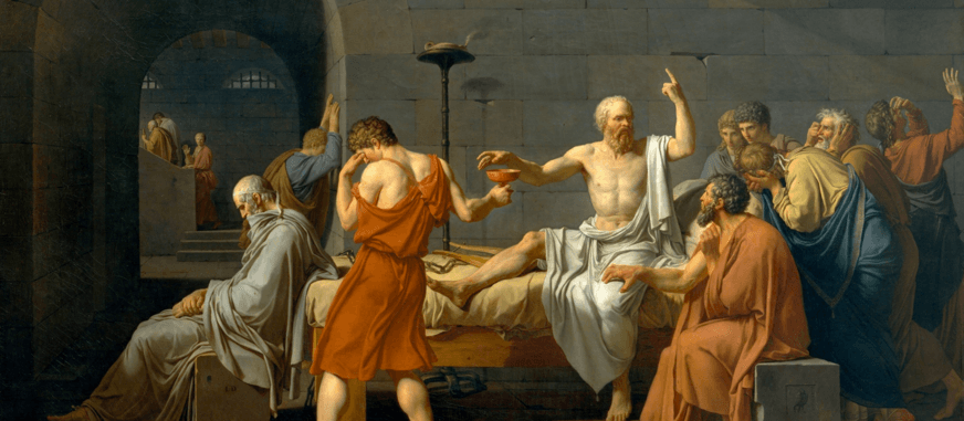 The Death of Socrates Painting by Jacques-Louis David
