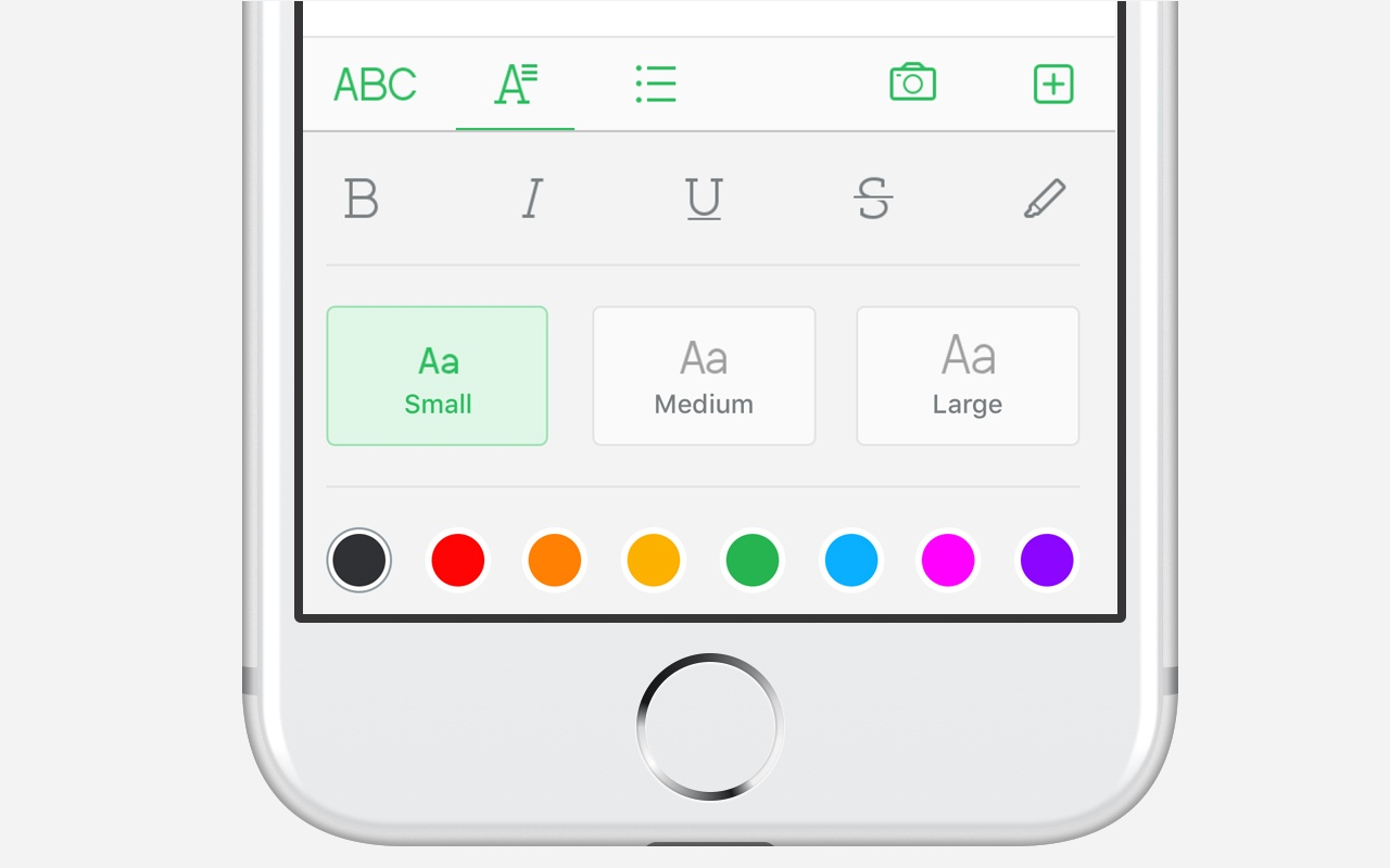 Font Style and Color Selector