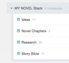 Notebook Stacks for Novel Project