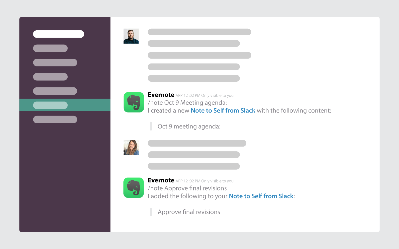 Creating Notes to Self in Slack