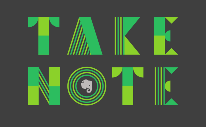 Take Note Logo with Evernote Elephant in O