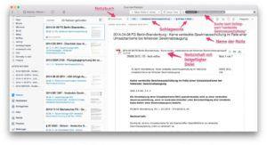 Bestandteile und Aufbau einer Notiz im Mac Client von Evernote