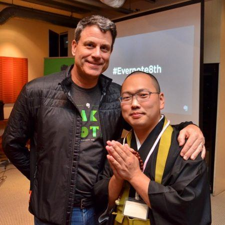 Evernote CEO Chris O'Neill and a Buddhist Monk in Japan
