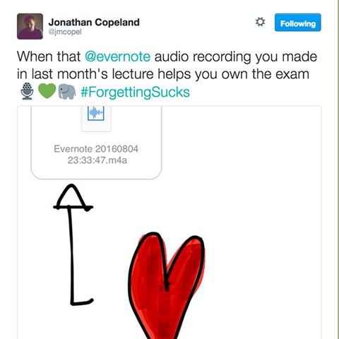 Evernote Audio Recording