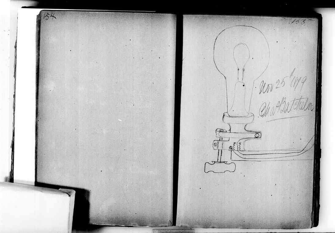 Edison Notebook with Lightbulb