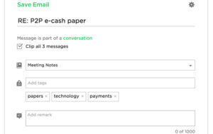Save Emails to Evernote