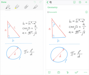 Sketching Triangles and Circles with Formulae