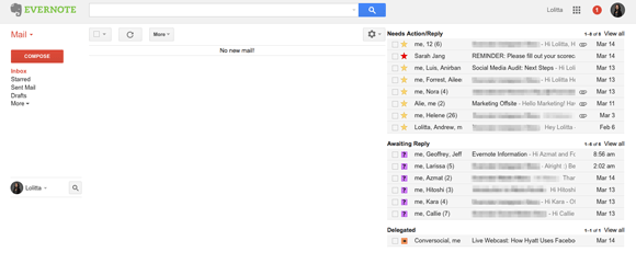 Inbox Zero in Google Mail
