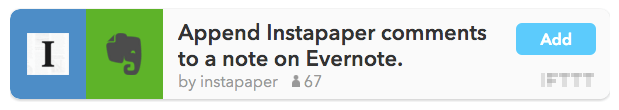 Instapaper Comments and Evernote