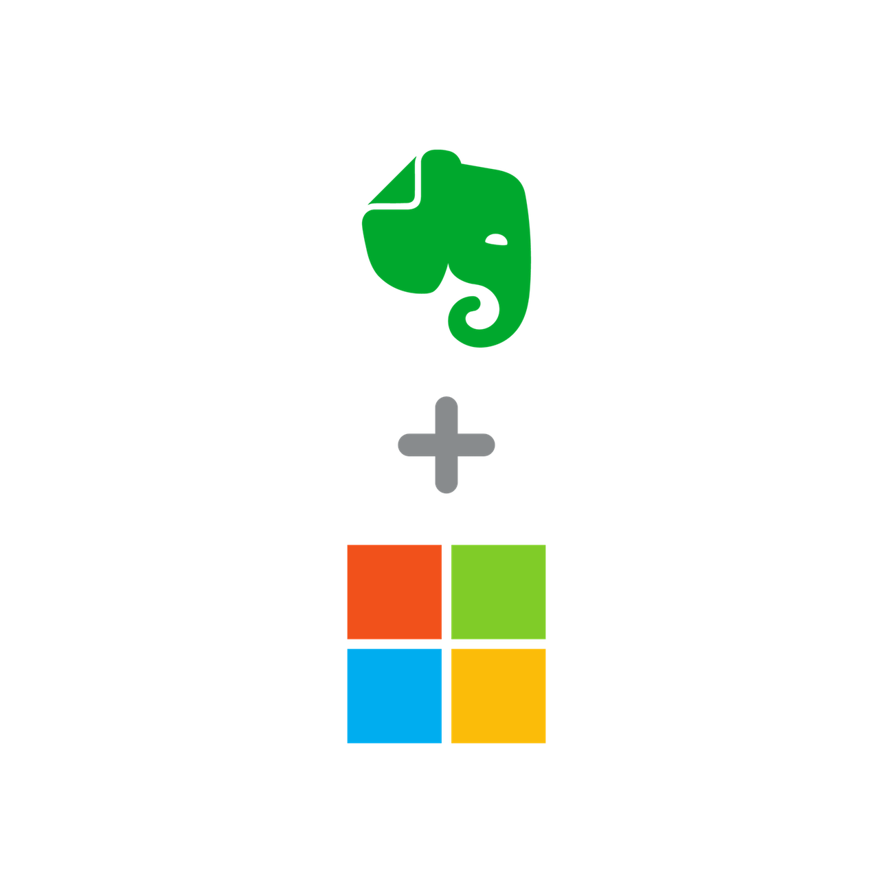 Evernote and Microsoft logos