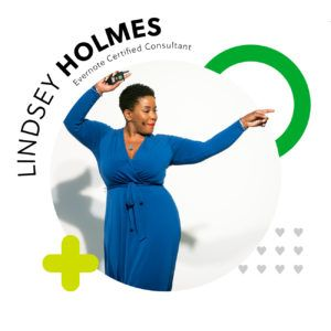 Evernote Certified Consultant Lindsey Holmes.